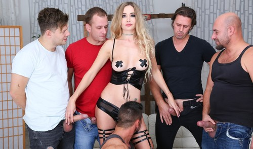 Ukrainian emissary in group porn with double penetration and legal