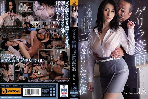 Bokep Jepang Jav WANZ-973 Guerrilla The Night When I Was Alone With My Boss Who Hates Sexual Harassment Due To Heavy Rain JULIA